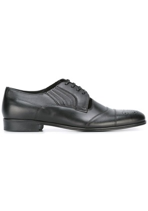 Dolce & Gabbana perforated and stitch detail brogues - Black