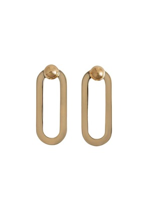 Burberry Geometric drop earrings - Metallic