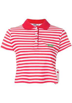 Gcds striped polo top - Red