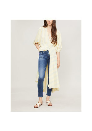 The Prima faded skinny mid-rise jeans