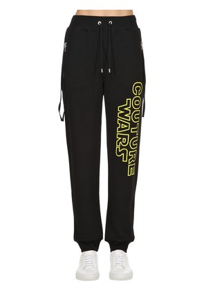 COUTURE WARS PRINTED COTTON SWEATPANTS