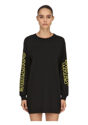 OVERSIZED COUTURE WARS COTTON SWEATSHIRT
