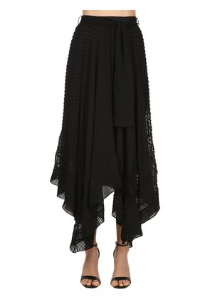 EMBROIDERED SILK LONG SKIRT