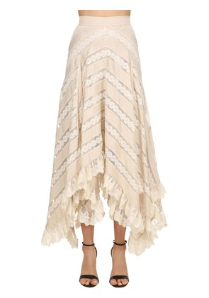 CHEVRON LACE LONG SKIRT
