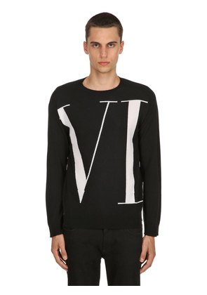VLTN LOGO CASHMERE KNIT SWEATER