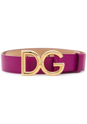 Dolce & Gabbana logo buckle belt - Pink & Purple