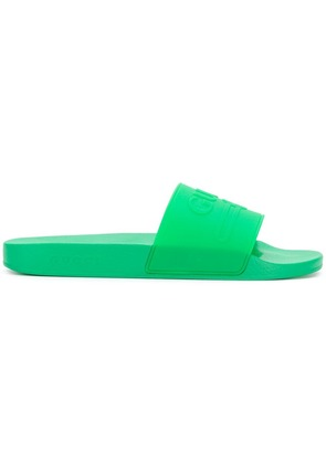 Gucci Gucci logo slides - Green