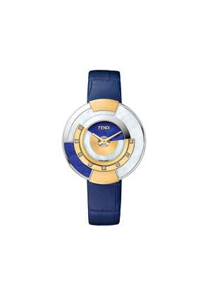 Fendi embellished Policromia watch - Blue