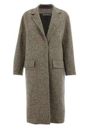 32 Paradis Sprung Frères Detroit single breasted coat - Brown