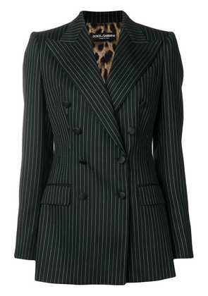 Dolce & Gabbana pinstripe double-breasted blazer - Black