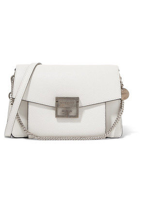 Givenchy - Gv3 Small Textured-leather Shoulder Bag - White