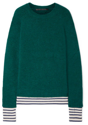 Haider Ackermann - Striped Wool-blend Sweater - Emerald