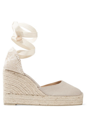 Castañer - Carina 80 Canvas Wedge Espadrilles - Gray