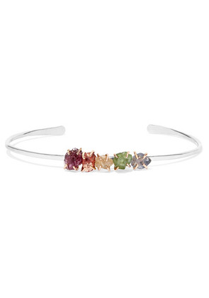 Melissa Joy Manning - 14-karat Gold And Sterling Silver Multi-stone Cuff - one size