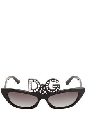 D&G STUDDED ACETATE SUNGLASSES
