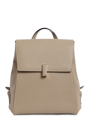 ISIDE GRAINED LEATHER BACKPACK