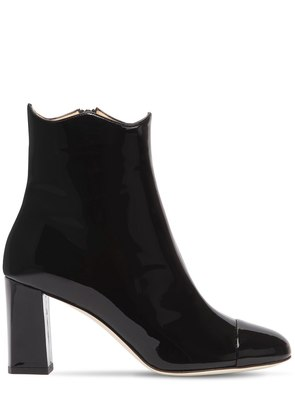 75MM PATENT LEATHER ANKLE BOOTS