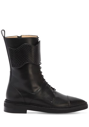 20MM LEATHER COMBAT BOOTS