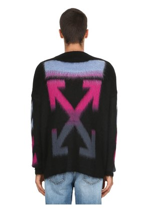 OVERSIZED ARROWS MOHAIR BLEND SWEATER
