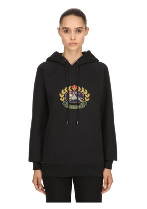 HOODED EMBROIDERED JERSEY SWEATSHIRT