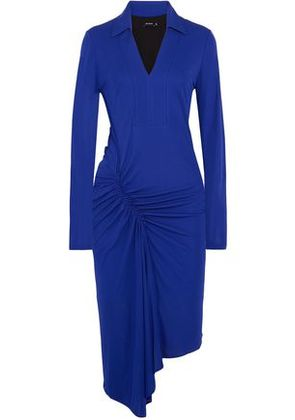 Atlein Woman Ruched Stretch-jersey Dress Royal Blue Size 38