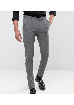 ASOS TALL Super Skinny Suit Trousers In Salt & Pepper - Multi