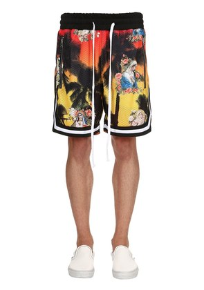 MERCUTIO PRINTED MESH BASKETBALL SHORTS