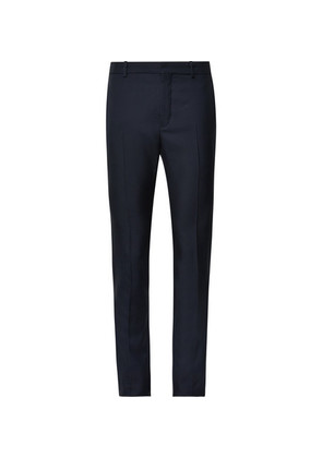 Balenciaga - Skinny-fit Virgin Wool-blend Trousers - Storm blue