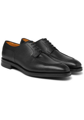 Edward Green - Dover Textured-leather Derby Shoes - Black