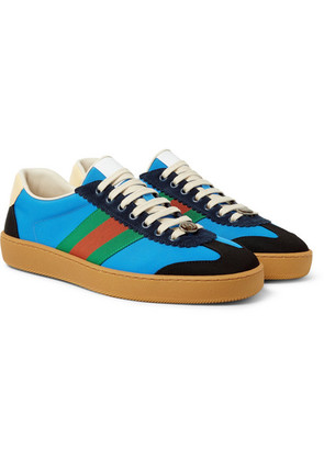 Jbg Webbing, Suede And Leather-trimmed Nylon Sneakers