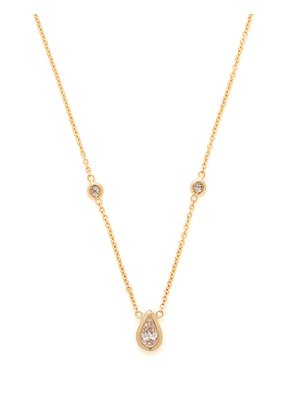 Gold and pear-cut diamond necklace