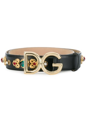 Dolce & Gabbana logo buckle belt - Black