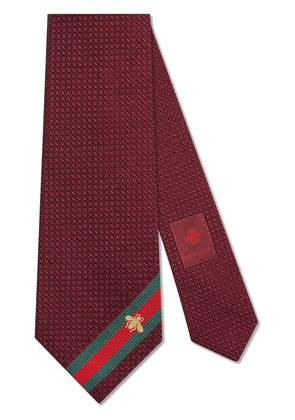 Gucci Silk tie with bee Web - Red