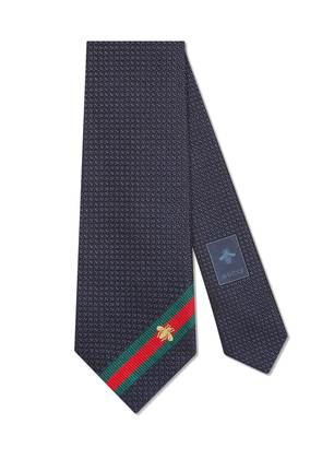 Gucci Bee Web tie - Blue