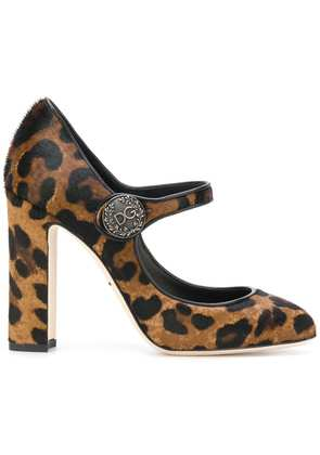 Dolce & Gabbana leopard print Mary Jane pumps - Brown