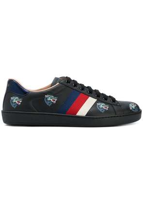 Gucci Ace with wolves print sneakers - Black