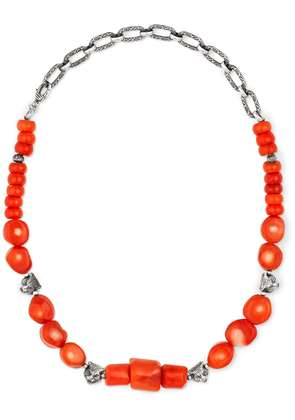 Gucci Anger Forest beaded necklace in silver - Red