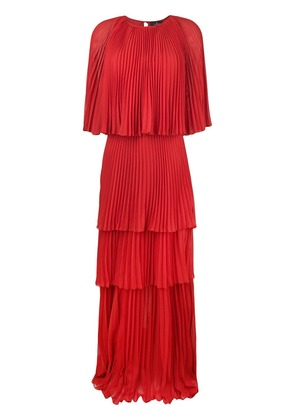 Capucci maxi pleated dress - Red