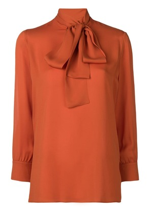 Gucci neck-tied long sleeve blouse - Yellow & Orange