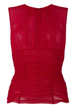 Dolce & Gabbana ruched mesh top - Red