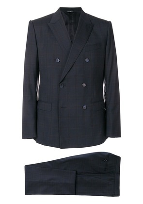 Dolce & Gabbana checked suit - Blue