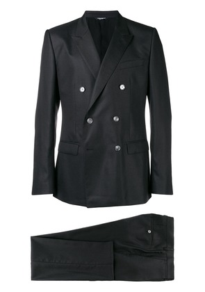 Dolce & Gabbana two piece double breasted suit - Black
