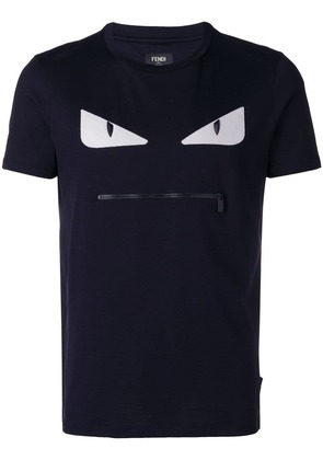 Fendi embroidered Bag Bugs T-shirt - Blue
