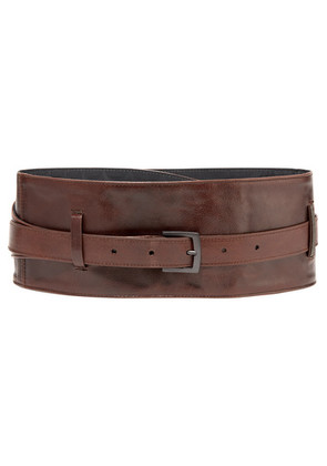Brunello Cucinelli - Textured-leather Waist Belt - Brown