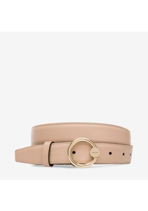 Bally Lottie 30Mm Neutral, Women's calf leather fixed belt in skin