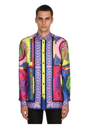 POP PRINT FLUID SILK TWILL SHIRT