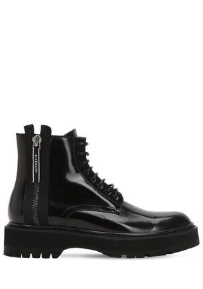 CAMDEN LEATHER UTILITY BOOTS WITH ZIP