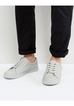 ASOS Trainers In Grey With Tumbled Effect - Grey