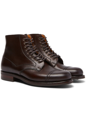 Cheaney - Jarrow Cap-toe Leather Boots - Brown