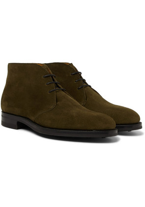 Edward Green - Banbury Suede Desert Boots - Army green
